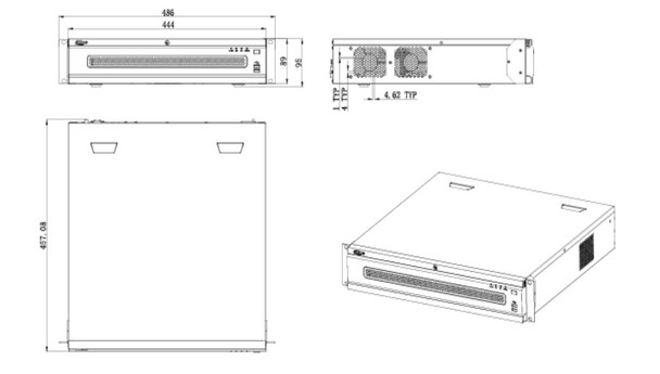 Dahua DHI-NVR6A08-128-4KS2 128 Channel 4K Network Video Recorder