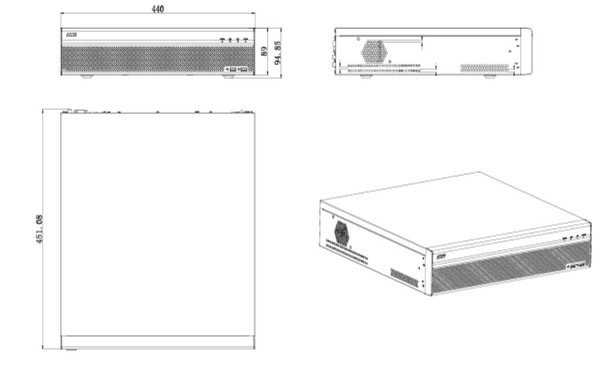 Dahua DHI-NVR6A08-32-4KS2 32 Channel 4K Network Video Recorder