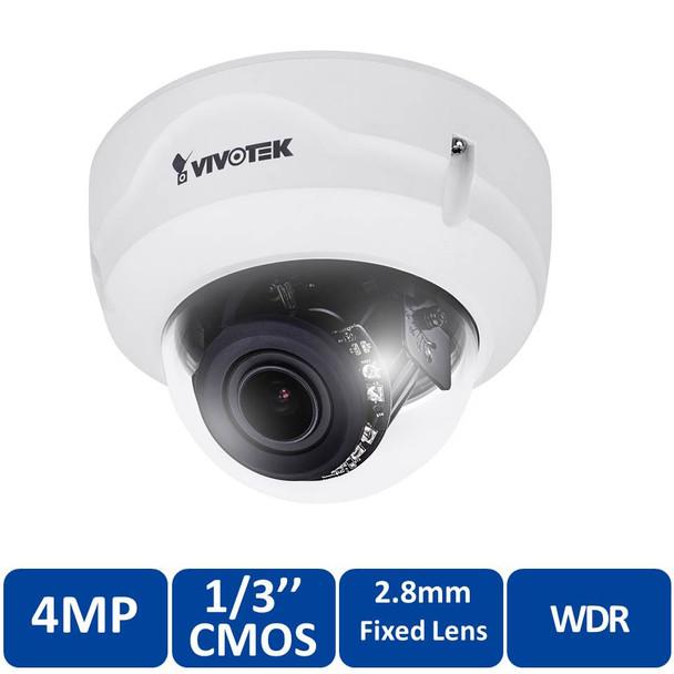 Vivotek FD8379-HV 4MP IR Outdoor Dome IP Security Camera - 2.8mm Fixed Lens