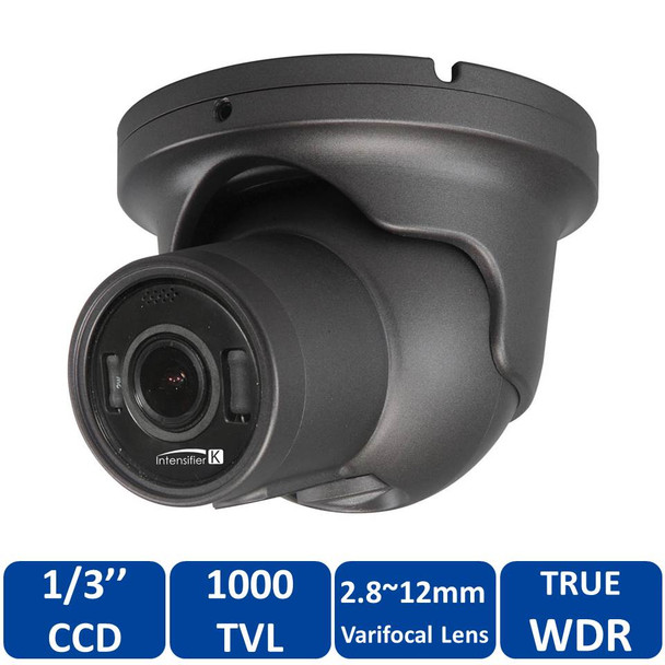 Speco HTINT60K 1000TVL Outdoor Turret CCTV Analog Security Camera with 2.8~12mm Varifocal Lens