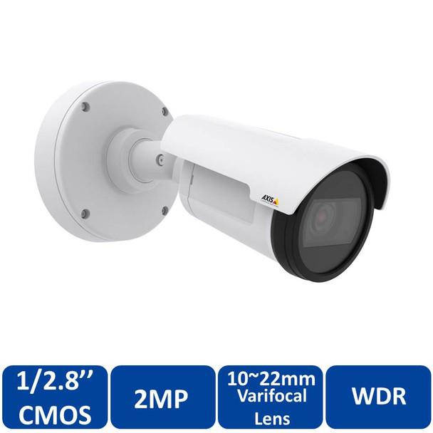 AXIS P1435-LE 2MP IR Outdoor Bullet IP Security Camera 0890-001 - 10~22mm Varifocal Lens