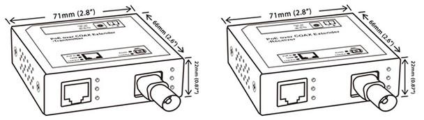 Geovision GV-POC0100 1-Port BNC PoE over Coaxial Extender 84-POC0100-001U
