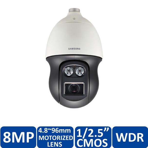 Samsung PNP-9200RH 8MP 4K H.265 IR Outdoor PTZ Dome IP Security Camera - 20x Optical Zoom