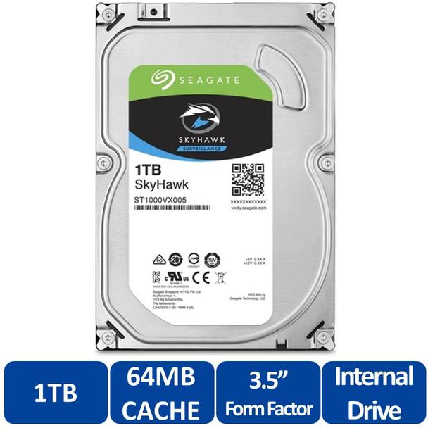 "Seagate ST1000VX005 SkyHawk 1TB Surveillance Hard Drive - SATA 6Gb/s, 64MB Cache, 3.5"""