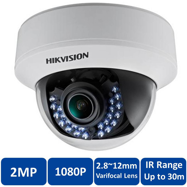 Hikvision DS-2CE56D1T-AVFIR 2MP Indoor IR Dome CCTV Analog Security Camera