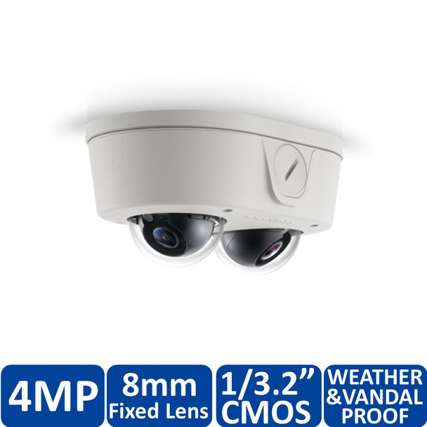 Arecont Vision AV4656DN-08 4MP Microdome Outdoor IP Security Camera - SNAPstream
