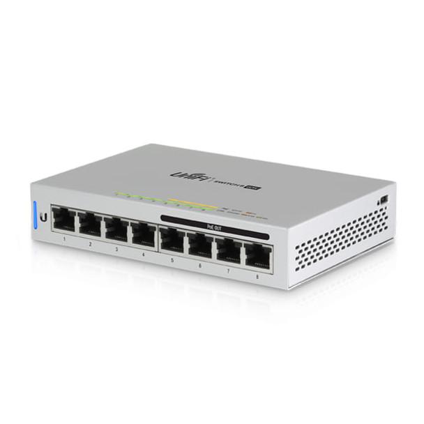 Ubiquiti US-8-60W UniFi 8-Port Gigabit PoE Compliant Managed Switch