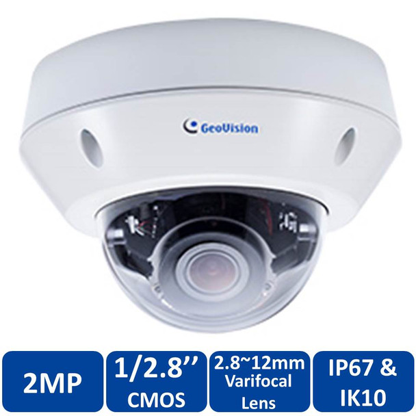 Geovision GV-VD2702 2MP Outdoor Dome IP Security Camera