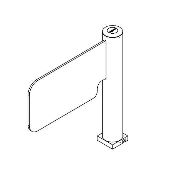 Cylinder Motorized Swing Gate Turnstile (Bi-directional) SWG-170