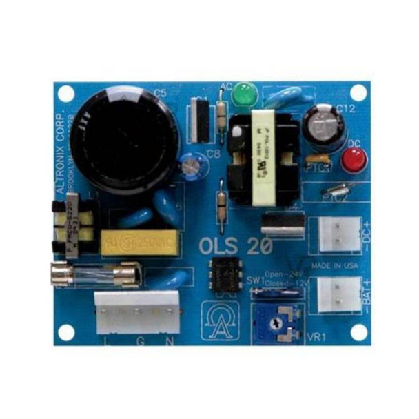 Altronix OLS200 Offline Switching Power Supply Board - 115VAC, 50/60Hz, 1.9A, 12VDC output, 10A Continuous Supply Current