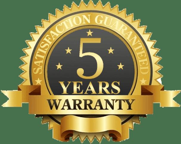 5-year Manufacturer Warranty