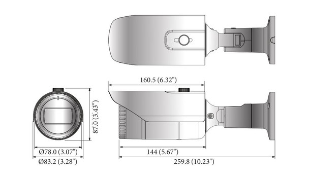 Samsung Hanwha HCO-6070R 2MP IR Bullet Outdoor HD CCTV Security Camera