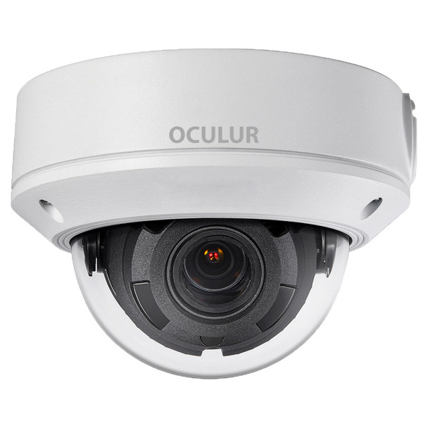 Oculur X4DZ 4MP IR Outdoor Dome IP Security Camera with Motorized Lens