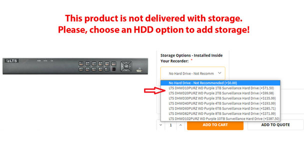 LTS LTD8508K-ST 8 Channel H.265+ HD-TVI 4.0 Digital Video Recorder - HDD Options available