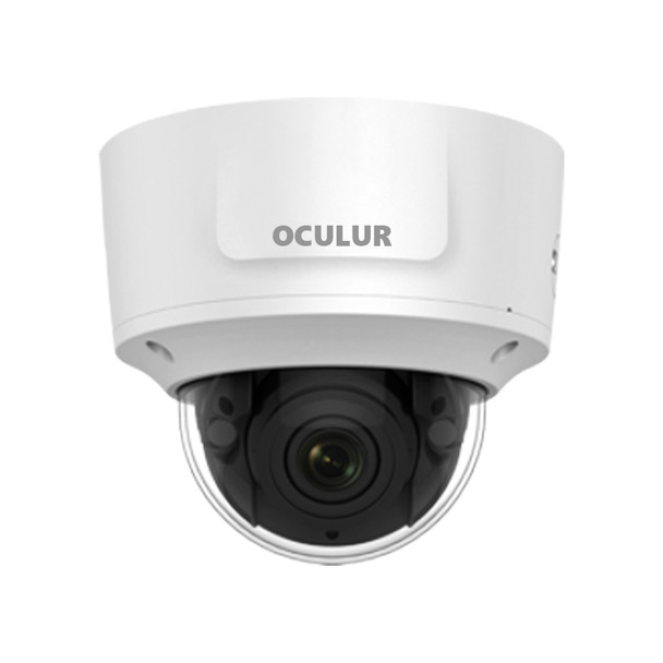 Oculur X4KDZ 8MP 4K Outdoor Dome IP Security Camera with Motorized Lens and Audio IO