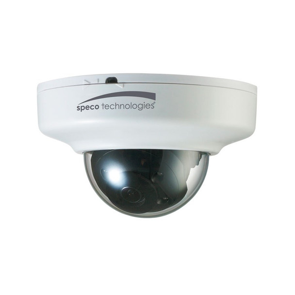 Speco O3FDP9 3MP IR Indoor Mini-Dome IP Security Camera - 2.8mm Fixed Lens, White Housing