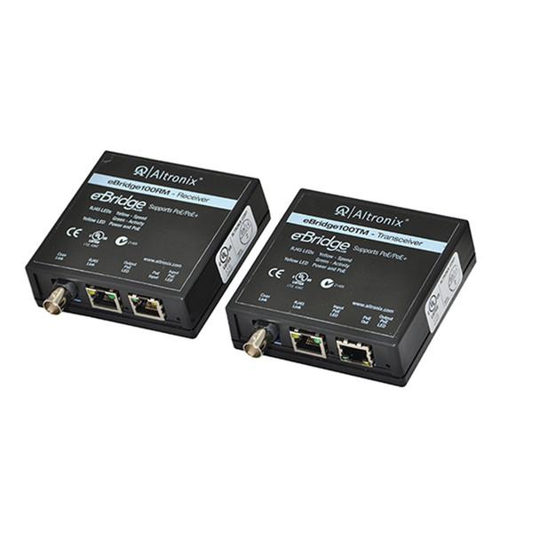 Altronix EBRIDGE100RMT Ethernet Over Coax/CAT5e Receiver/Transceiver Adapter Kit