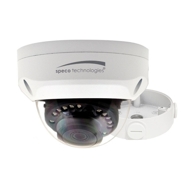 Speco VLD1A 2MP IR Outdoor Multi-Format Dome HD-TVI Analog Security Camera with Junction Box