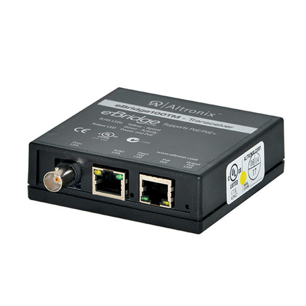Altronix EBRIDGE100TM Single Port Transceiver - EoC or Long Range Ethernet