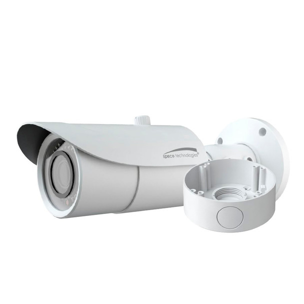 Speco O4B6M 4MP IR H.265 Outdoor Bullet IP Security Camera - Speco Cloud Enabled with Junction Box