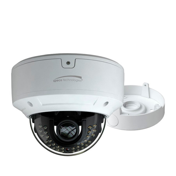 Speco O4D6M 4MP IR H.265 Outdoor Dome IP Security Camera with Speco Cloud Enabled and Junction Box