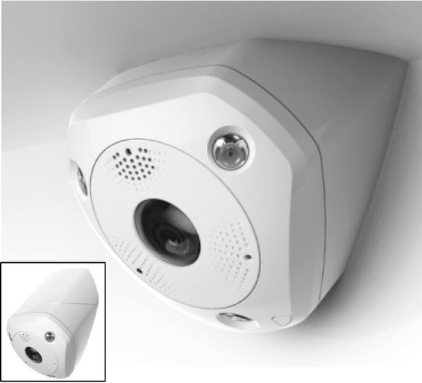 Hikvision DS-2CD6W32FWD-IVS 3MP IR Outdoor Ultra-wide Angle Panoramic IP Security Camera