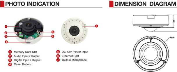 ACTi B76A 12MP 4K IR Outdoor Hemispheric Dome IP Security Camera - Superior Low Light, Extreme WDR 130db