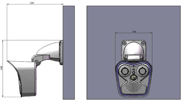 Mobotix MX-M16B AllroundDual Body for M16 Sensor Modules (Day/Night)