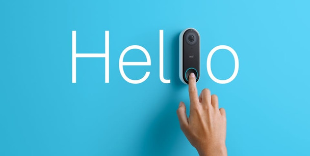 Nest NC5100US Hello Video Doorbell with Wireless Security Camera