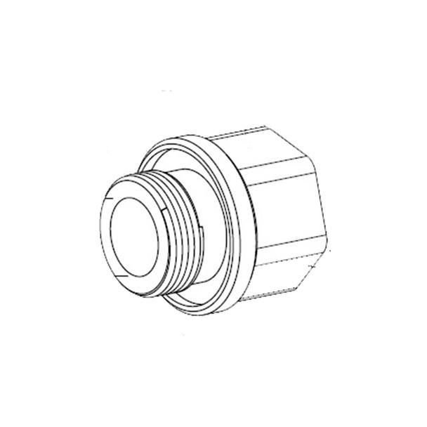 "Bosch MIC-M25XNPT34 Adapter - M25 to 3/4""NPT, stainless steel"