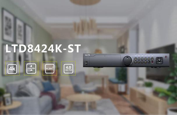 LTS LTD8424K-ST 24 Channel 4K HD-TVI Digital Video Recorder, Platinum Enterprise Series -  HDD options available
