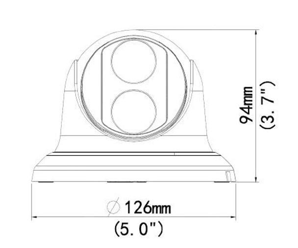 Geovision GV-EBD2702 2MP IR H.265 Indoor/Outdoor Eyeball Dome IP Security Camera 84-EBD270W-G010