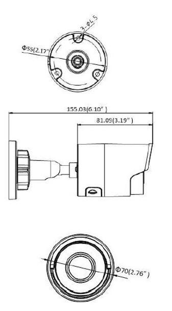 Panasonic A-28-F 2MP IR H.265 Outdoor Bullet IP Security Camera - Built-in Analytics