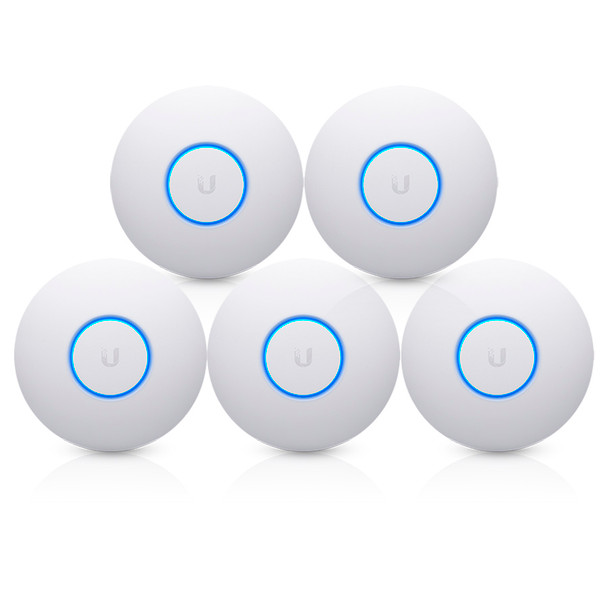 Ubiquiti UAP-NANOHD-5-US 4x4 MU-MIMO 802.11ac Wave 2 Wireless Access Point, 5-Pack