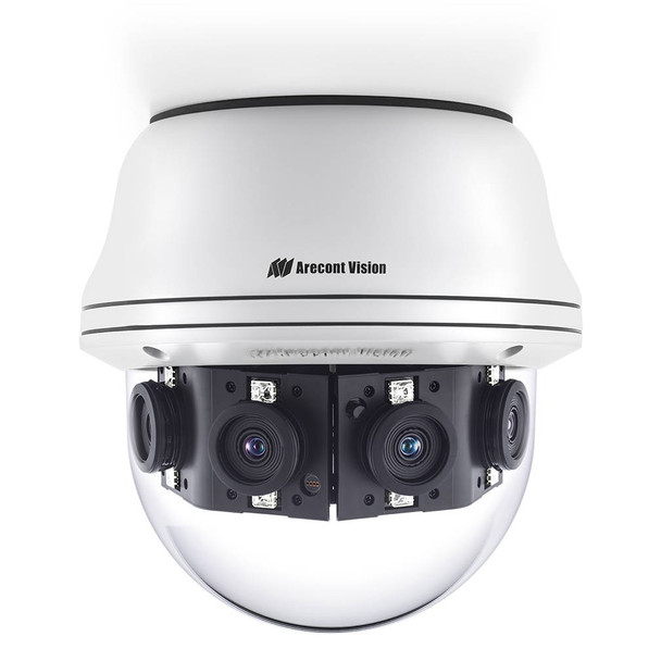 Arecont Vision AV08CPD-118 8MP 4K IR H.265 Outdoor Dome IP Security Camera - Multi-sensor