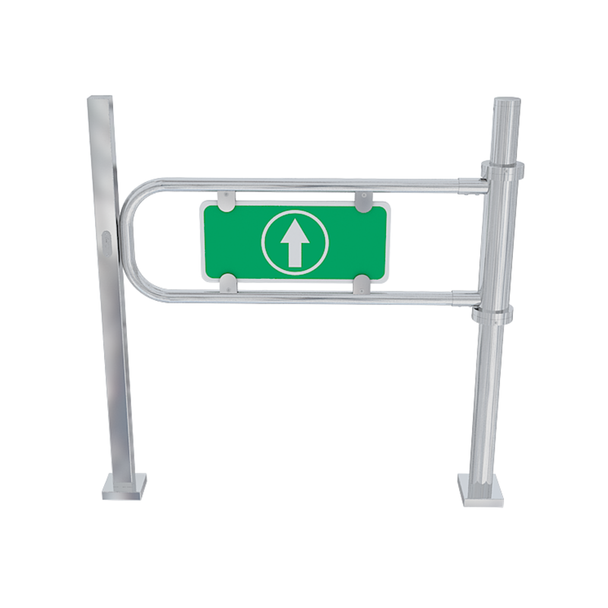 Mechanical One-Directional Swing Gate Turnstile With Lock