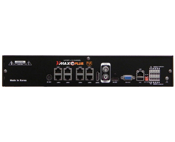 Digital Watchdog DW-VP124T8P 8 Channel PoE Network Video Recorder - 4TB HDD included