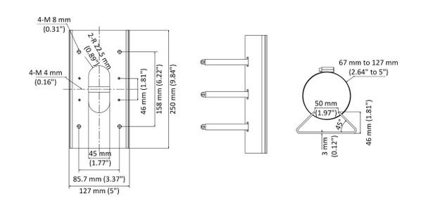 LTS LTB388 Pole Mount for CMIP38xx/CMIP78xx/CMIP98xx