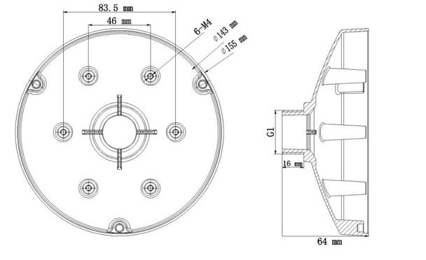 Hikvision PC155 Pendant Cap Adapter for PC130T
