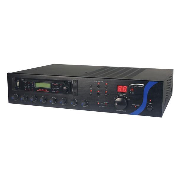 Speco PBM240AU 240W RMS P.A. Amplifier with Tuner - CD and USB