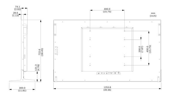 "Bosch UML-554-90 55"" 4K Led Monitor"