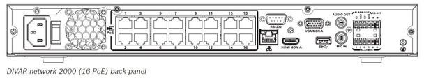 Bosch DDN-2516-112N16 16 Channel 4K Network Video Recorder - 2TB HDD Pre-installed, 16 PoE