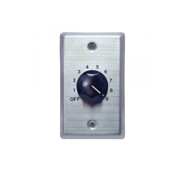 Speco WAT50 50W 70/25 Volt Wall Plate Volume Control, Silver and Black