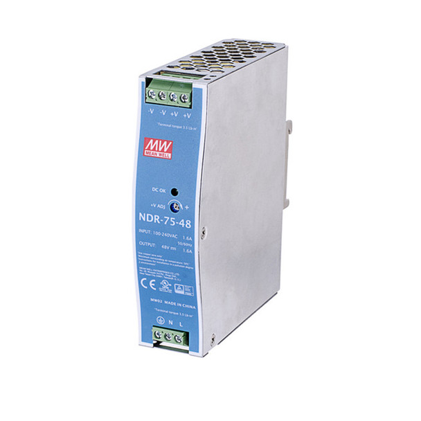 Vivotek NDR-75-48 75W Single Output Industrial DIN Rail Power Supply