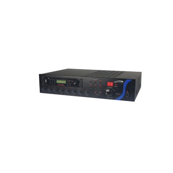 Speco PBM120AU 120W RMS P.A Amplifier with Tuner, CD, and USB