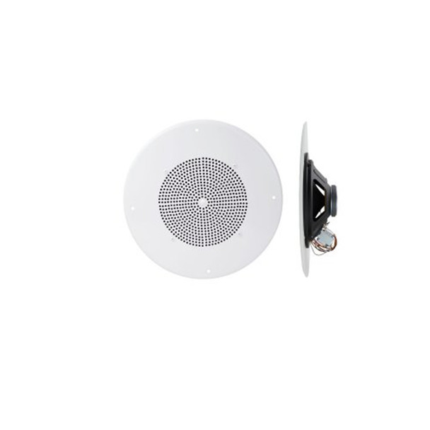 "Speco G86TCG 86 Series - 8"" 70/25V Classic Grille In-Ceiling Speaker with Volume Control Knob"