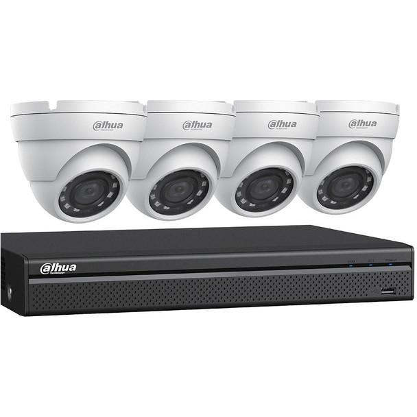 Dahua C542E42 HD-CVI Security System, 4 Camera, Outdoor, Full HD 1080p, 2TB Storage, Night Vision