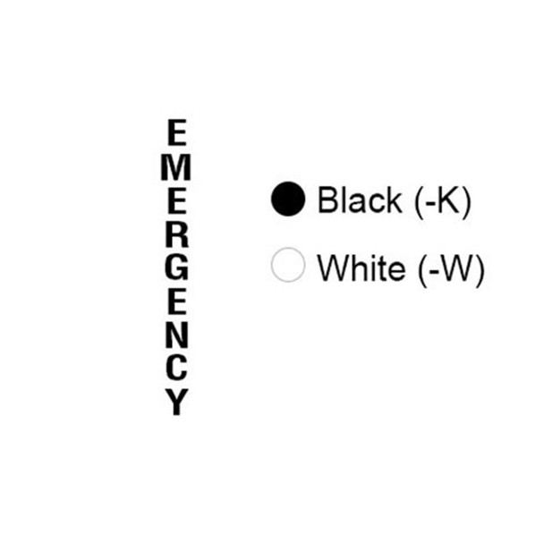 Aiphone TW-EMW Tower Emergency Lettering, White