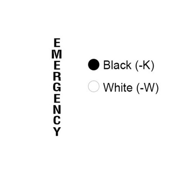 Aiphone TW-EMK Tower Emergency Lettering, Black