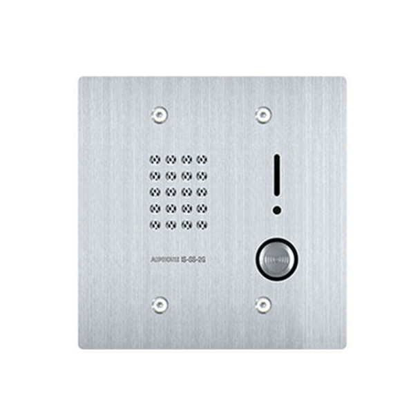 Aiphone IS-SS-2G Audio Door Station, 2-Gang Flush Mount Stainless Steel